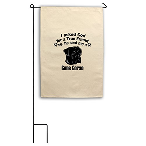 "Style in Print Canvas Yard Flag 18""X27"" Asked God For Friend"