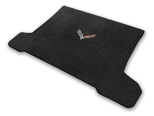 2014 & 2015 Corvette C7 Stingray Ebony Coupe Cargo Floor Mat with Crossed Racing Flags Logo