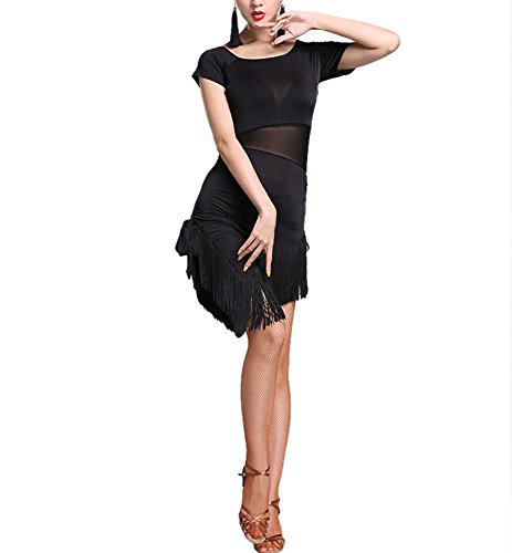 (Whitewed 20S the Great Gatsby Halloween Costume Party Dresses Women Gifts Black, Black, Medium /)