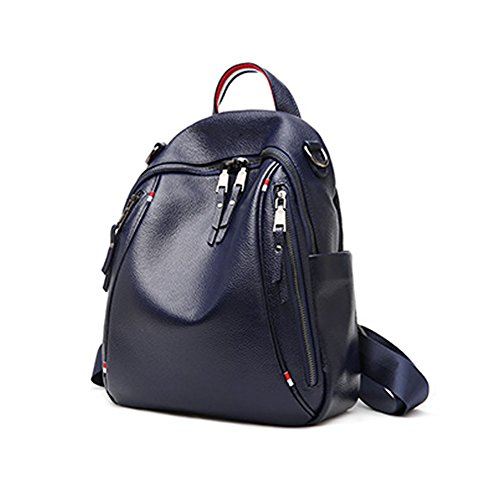Dissa Leather Blue Medium Womens Backpack Smooth Bag qpnRqPTfw