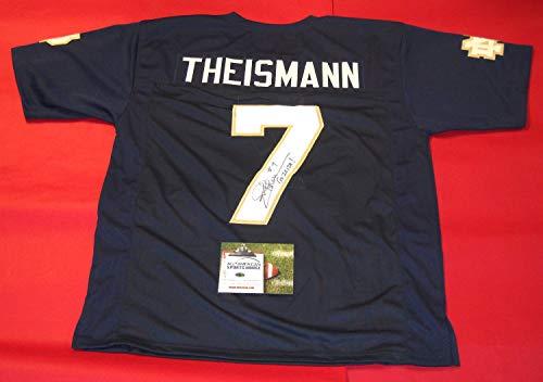 JOE THEISMANN AUTOGRAPHED NOTRE DAME FIGHTING IRISH JERSEY AASH (Theismann Jersey)
