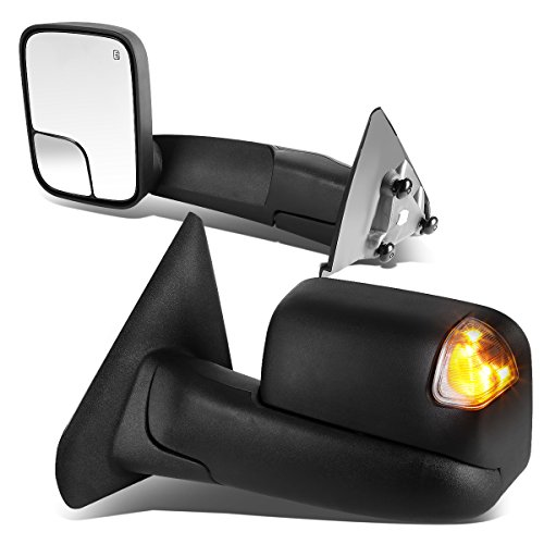 DNA motoring TWM-012-T888-BK-SM Pair of Towing Side Mirrors, Driver and Passenger Sides
