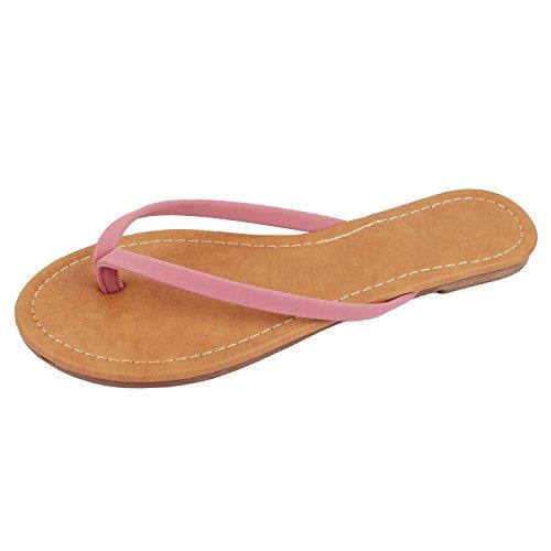- Guilty Heart - Womens Classic Beach Thong Flat Flip Flop Sandal Wedges-Sandals, Mauve NBK, 8 B(M) US