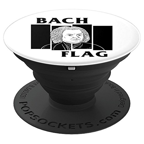 Punk Rock Composer Parody Bach Flag - PopSockets Grip and Stand for Phones and Tablets -