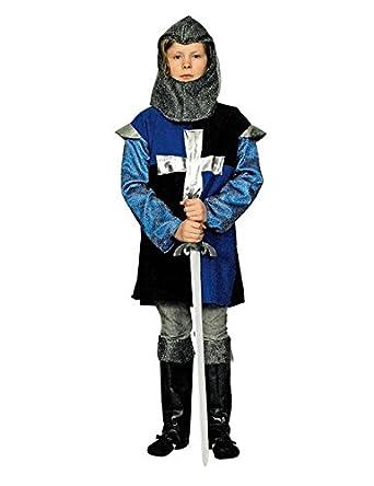 Ritter Medieval infantil Disfraz Azul Negro: Amazon.es: Juguetes y ...