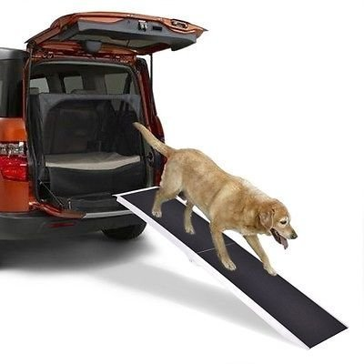 8Ft Portable Aluminum Folding Pet Paw Safe Dog Ramp Ladder Incline Car Truck SUV by Apontus