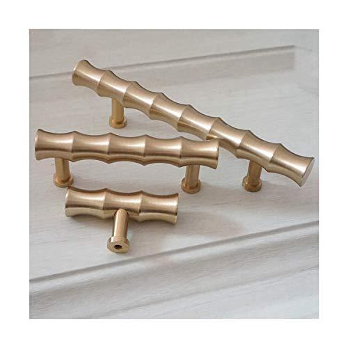 amboo Gold Brass Cabinet Handles Knob Door Handle T Bar Pulls Drawer Knobs Pull Handles Dresser Pull Kitchen ()