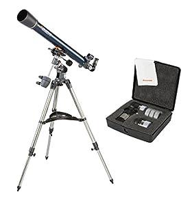 "Celestron AstroMaster-70 EQ 70mm 2.7""/70mm Refractor Telescope Kit & AstroMas..."