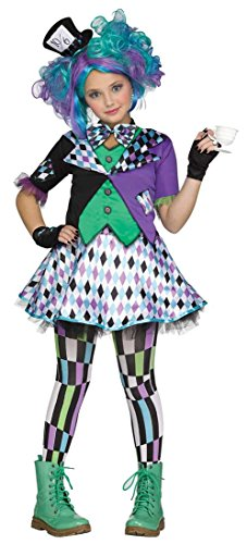 Girls Mad Hatter Costume - Child XL 14-16 (Mad Hatter Halloween Party)