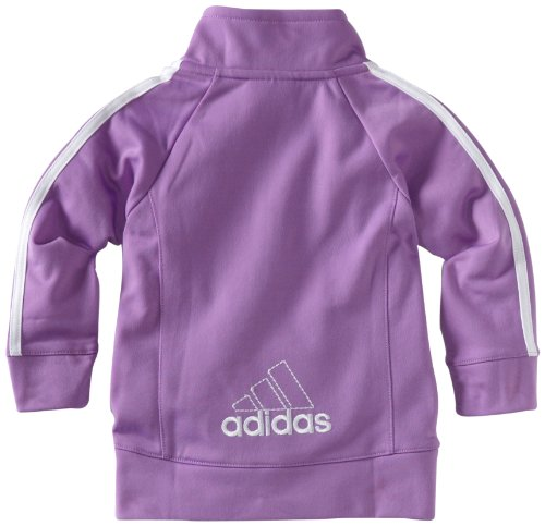 adidas Baby Girls' Tricot Zip Jacket and Pant Set, Purple Basic, 12 Months by adidas (Image #2)