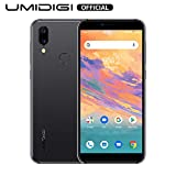 UMIDIGI A3S Unlocked Smartphone 2020, 16 GB Android 10 Mobile Phone, Double-Sided 2.5D Curved Glass, 2 + 1 Card Slots, 16MP Dual Camera, Dual 4G Volte, 3950mAh, AI Face Unlock, Global Version - Grey