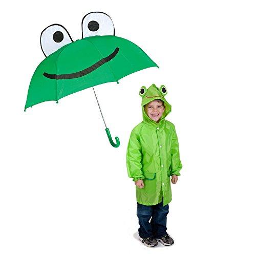 Frog Kids Rainy Day Umbrella - Childrens Raincoat (Rainy Day Frogs)