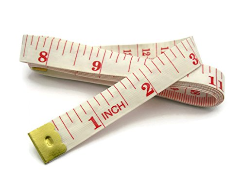 bumos-soft-tape-measure-60-inch-150-cm-soft-cloth-for-sewing-tailor-cloth-ruler-white-hc1