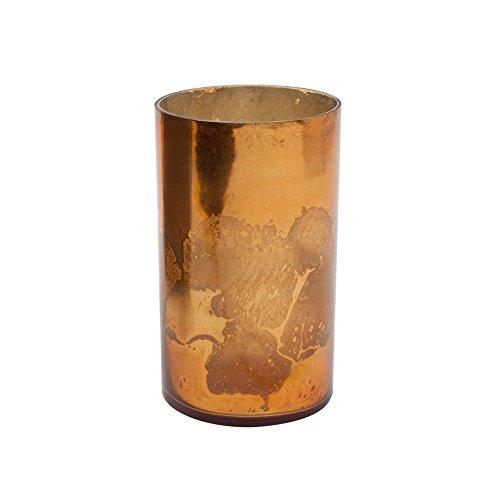 6in Antique Copper Cylinder Vase ()