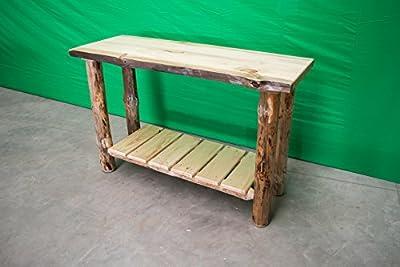 Midwest Log Furniture - Rustic Log Sofa Table