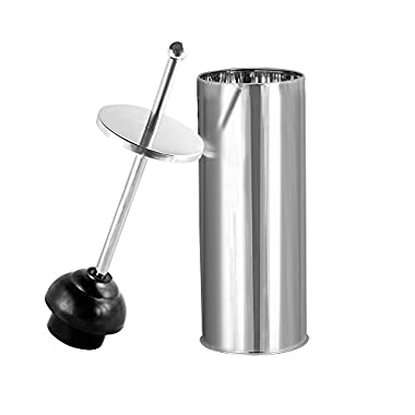 Blue Donuts Toilet Plunger in Chrome Finish