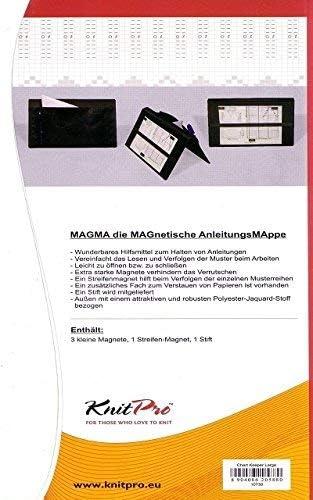 Black Magma Fold Up Style Knitting Chart Keeper KnitPro KP10730 500 x 300mm