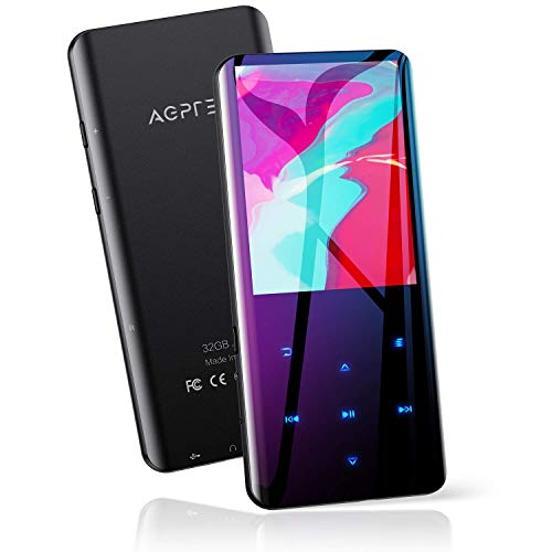🥇 AGPTEK 32GB Reproductor MP3 Bluetooth 5.0