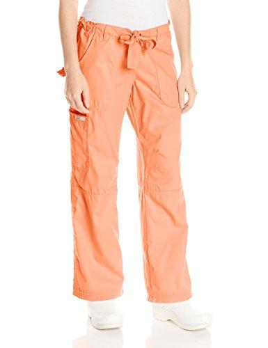 Koi Women's Lindsey Ultra Comfortable Cargo Style Scrub Pants (PETITE SIZES), Sweet Coral, X-Small/Petite (Sweet Petites Apparel)