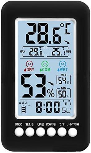Xigeapg Akustischer Gro?er LCD Farb Digital Wecker mit Temperatur Thermometer Feuchtigkeits Hygrometer Tabellen Schreibtisch Wetter Station
