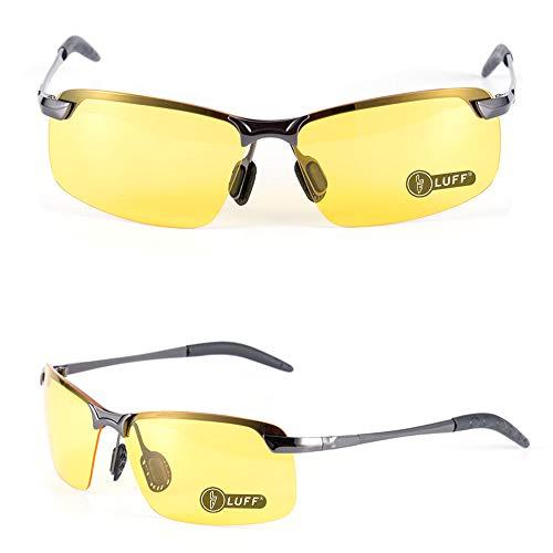antideslumbrantes polarizadas mujeres de visión Gafas con con retro nocturna gafas hombres HD segura conducción Gafas gray Classic LUFF Px6S44