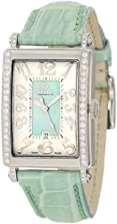Gevril Women's 7246NE Mini Quartz Avenue of Americas Green Diamond Watch