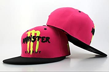 e5c49421634 Image Unavailable. Image not available for. Colour  Monster Energy Rockstar  Fitted Flat Visor Limited Edition Adjustable Cap Snapback