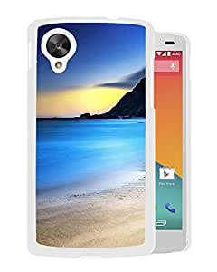 New Beautiful Custom Designed Cover Case For Google Nexus 5 With Nature Pure Beach Landscape (2) Phone Case