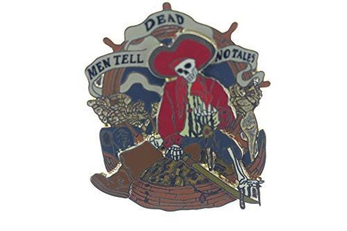 - Disney Pirates of the Caribbean Dead Men Tell No Tales Skeleton Pin