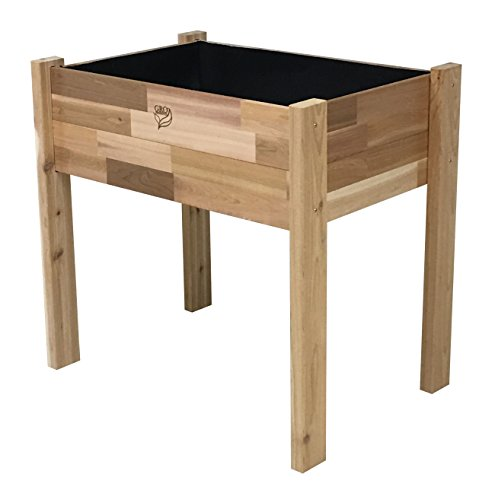 Gro Products 18-EGB3-2436 Elevated Garden Bed, 36 x 24 x 34, Cedar