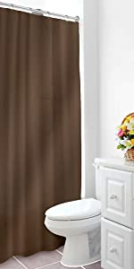Home Expressions Heavy Duty Vinyl Magnetic Shower Curtain Liner 70
