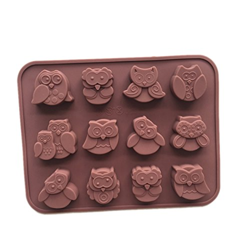 (Soap Molds Owl Silicon Soap Mold Craft Molds DIY Handmade Soap Molds for Candy Chocolate Cake Jelly by Longzang (xj567))