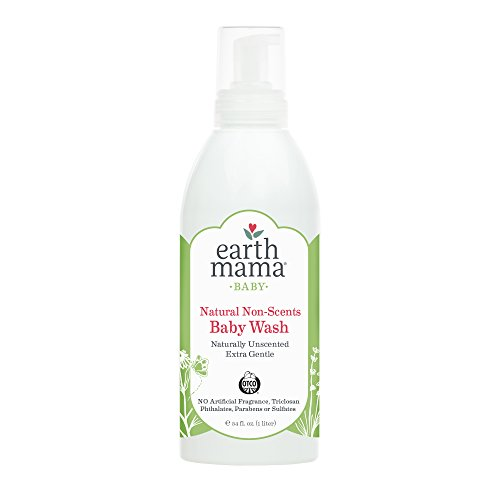 Earth Mama Natural Non-Scents Baby Wash Gentle Castile Soap for Sensitive Skin, 34-Fluid Ounce (Packaging May Vary) - Non Scents