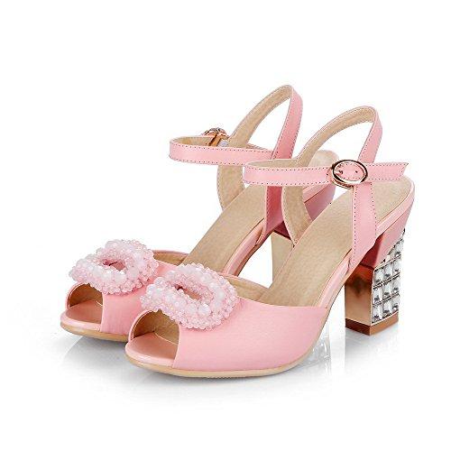 Vaaleanpunainen Peep Korkokenkiä Solki Sandaalit Voguezone009 Materiaaleja Naisten Sekoitus Kiinteä nOqxwvz7a