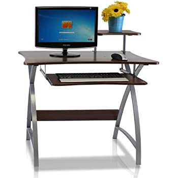 Amazoncom Acme 00118 Vincent Computer Desk Silver Kitchen Dining
