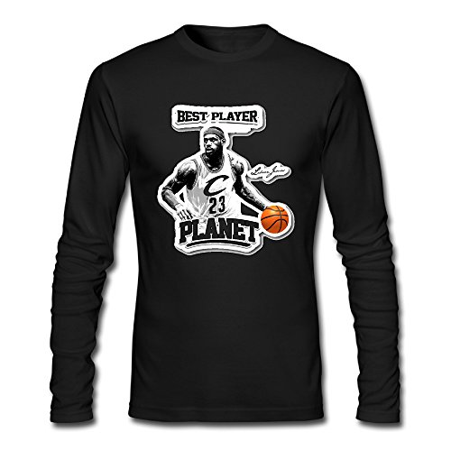 Cleveland Golf Shirts - AUSIN Men's #23 Player Cleveland Casual Long Sleeve Tshirt Black L