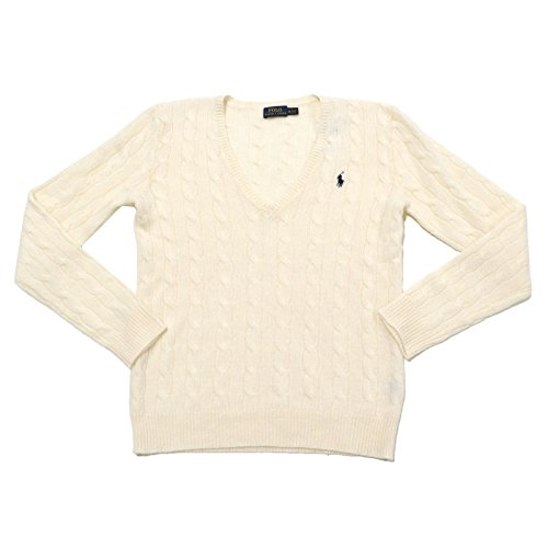 Polo Ralph Lauren Womens Merino Wool Sweater (X-Large, Cream)