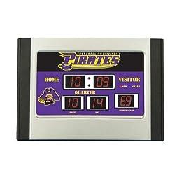 Team Sports America East Carolina Pirates NCAA Scoreboard Desk Clock (6.5x9)