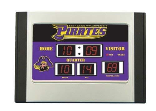 Team Sports America East Carolina Pirates NCAA Scoreboard Desk Clock (6.5