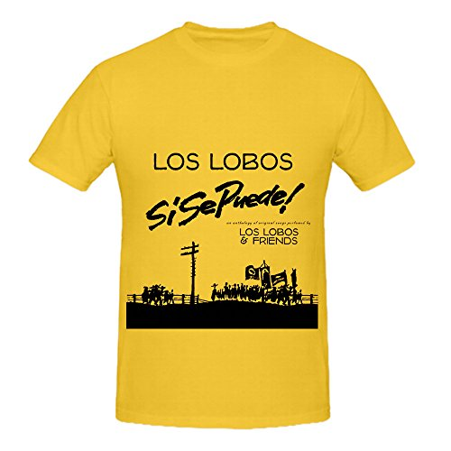 Lionel Hampto Si Se Puede Soul Album Cover Mens Crew Neck Slim Fit Tee Shirts Yellow