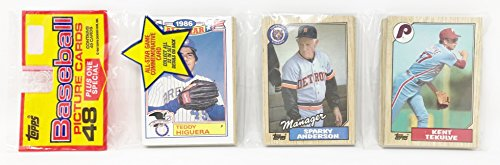 1986 Unopened 48 Count Baseball Rack Pack + 1 All Star Commemorative Card - Teddy Higuera Milwaukee Brewers (49 Total Cards)