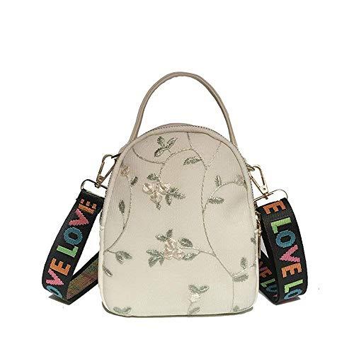 Moontang Bag Taille Blanc bandoulière à Rose Rose et Simple Polyvalent coloré Sac Messenger rPaW4PU