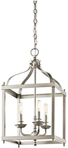 Kichler 42566NI Larkin Indoor Pendant 3-Light, Brushed Nickel