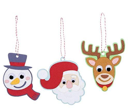 - Christmas Wiggle Eye Character Foam and Felt Ornament Craft Kit- Makes 18
