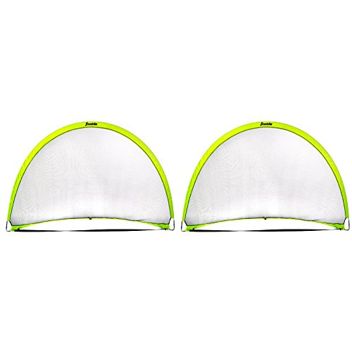 Franklin Sports Pop-Up Dome Shaped Goals-6' x 4' (2 Pack), Yellow, Large (2 Goals)