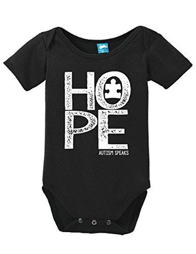 Sod Uniforms Hope Autism Speaks Printed Infant Bodysuit Baby Romper Black 18-24 Month