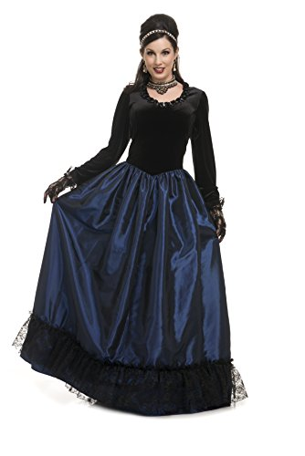 Charades Women's Dark Victorian Princess, Midnight Blue, Small ()