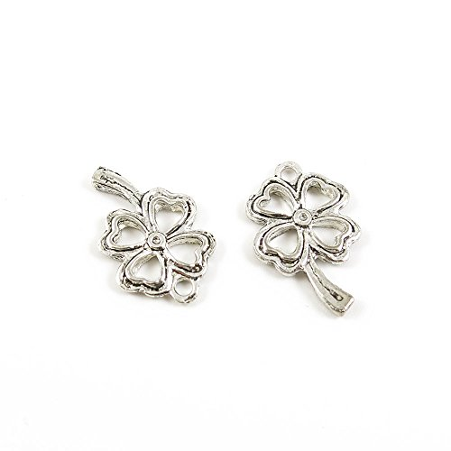 270x Ancient Silver Fashion Jewelry Making Charms ZH8778 Clover Wholesale Supplies Pendant Retro DIY Craft Alloys Lots Repair Jewellery Findings Accessoires