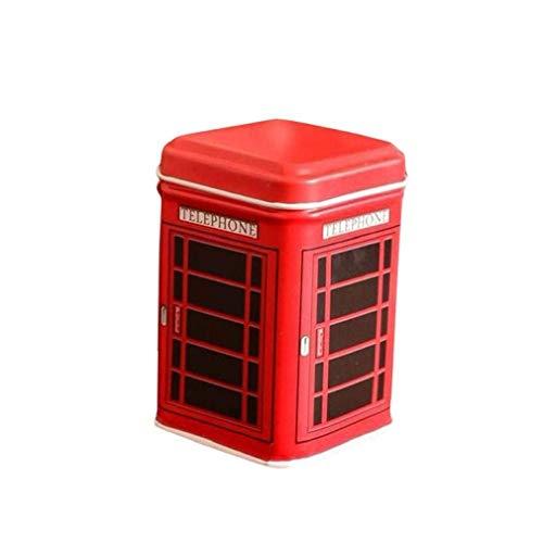 Noopvan Deal! Cion Storage Box,Metal Candy Trinket Tin Jewelry Iron Tea Coin Storage Square Box (Red)