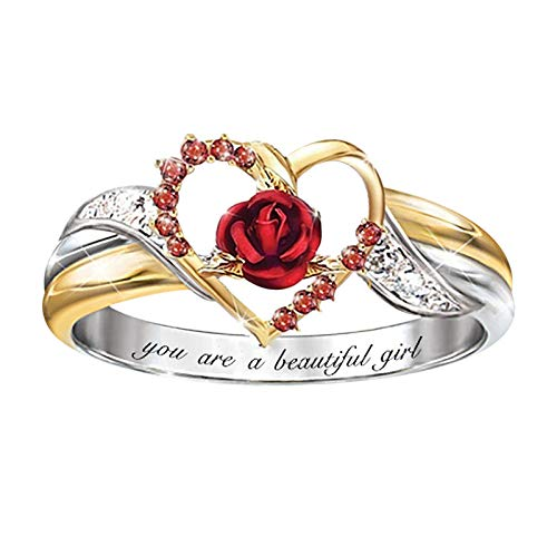 Mother's Day Ring Animal Shaped Women Wedding Party Jewelry Size 5-10 (J,10)